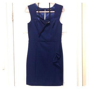Blue Express Business Dress with belt